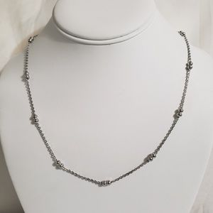 Stainless Steel Silver Bead Necklace